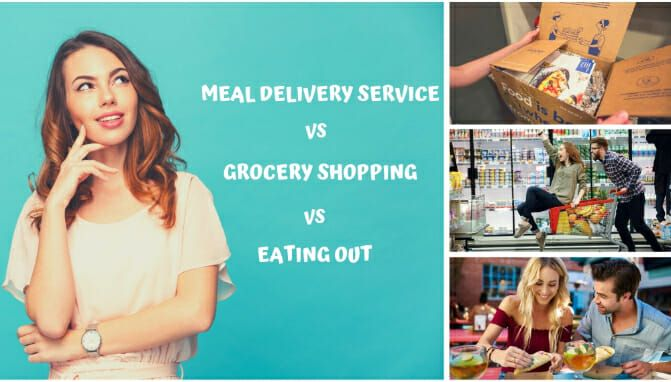 Meal Delivery Service vs. Grocery Shopping vs. Eating Out