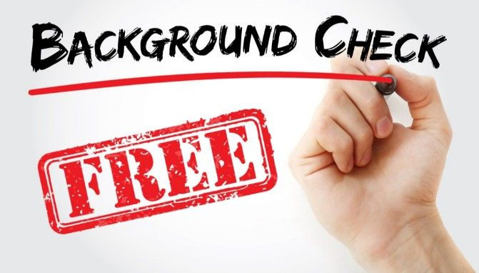 free background check on someone